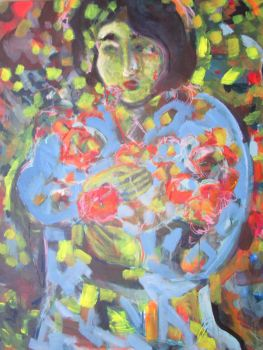 Lady with flowers by 7markus7