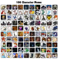 100 Character Meme Example by DarthGoldstar710