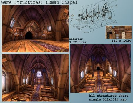 Game Model - Human Chapel int. by gronch