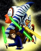 Shaak ti, Ahsoka and Mikail by EternalSaber