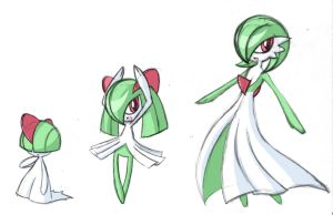 Ralts, Kirlia, Gardevoir by rongs1234