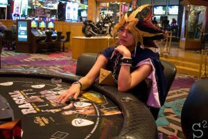 Cosplay - Yami Yugi doubling down in Vegas by slifertheskydragon