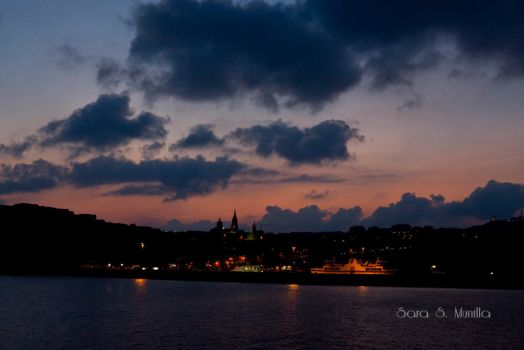 Gozo from the ferry by SarasMunilla