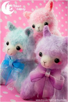 Sweety plush alpaca Charm 3 by CuteMoonbunny