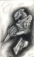 Sangheili Ranger Sketch by DizzySweaterKitty