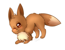 Eevee wants to play! by Tea-cup-kitty