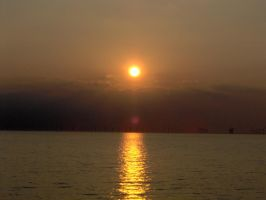 Baltic sunset by AstraphUriel