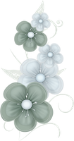 Green Flowers PNG by PVS by pixievamp-stock