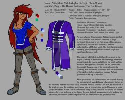Zafirah's Character Sheet by AnimeFreak40K