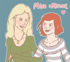 Mira and Minne by Beere-Jade