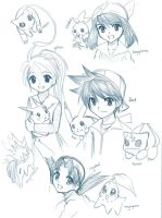 Random Pokemon sketches by Na-Nami