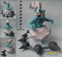 Thundurus Papercraft by xDCosmo