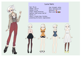 Luna Veric: character sheet by vickiehime