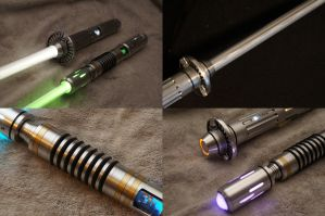 Custom Lightsabers (Detail) by ammnra