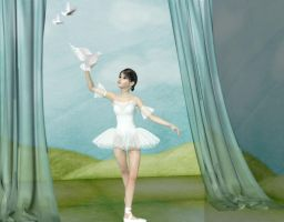 Ballerina and The Dove by VisualPoetress