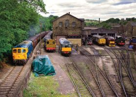 Haworth Sheds KWVR Diesel Gala by irwingcommand