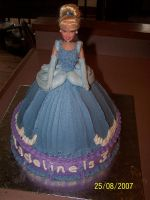 Cinderella Doll Cake 1 by veedeb