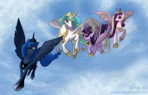 A Princess's Flying Lesson (Finish) by PeichenPhilip