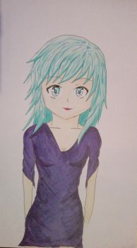 First Girl Made With Copics by 4ntoniax3