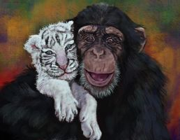 anjana and cub by nosoart