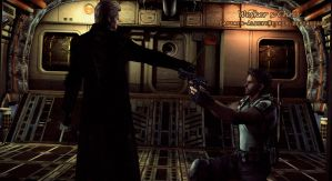 Wesker vs Chris by Captain-AlbertWesker
