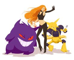 Cally, Gengar and Alakazam by It-is-a-circle
