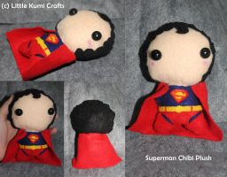Superman Chibi Plush by lkcrafts