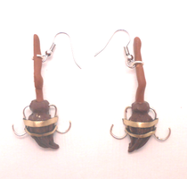 Harry Potter miniature broomstick earrings by MiniSweetx