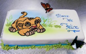 Lion king cake by buttercreamfantasies