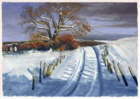 Winter Road by h-i-l-e-x