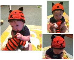 Tiger Hat by asexualgoddess