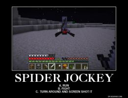 Spider Jockey Demotivational by CrazyChainsawGirl