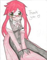 Thanks, from Grell-chan by cradlingdarkness