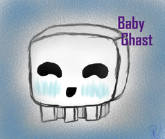 Minecraft Baby Ghast by Izzito
