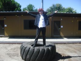 Axel on a Giant Tire by ShadowYazoo