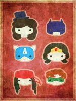Super Heros Chibi by smallrinilady