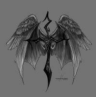 Fallen Angel Tattoo by ThreshTheSky