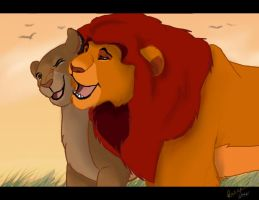 ...:::Sarabi and Mufasa:::... by MorisHizen