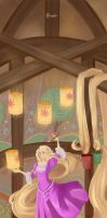 Tangled:  Painting Dream by TsubasaNoUmi