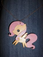 Fluttershy Cutout Necklace by Bunnygirl2190