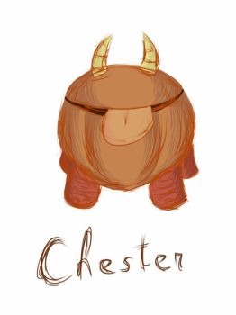 Quick finger sketch - Chester by VirShi