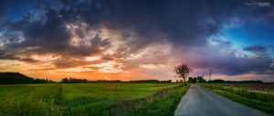 Cloud in the spring sunset again by NorbertKocsis