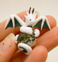 Tree Agate Dragon Pendant by Micrackin
