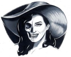 Katy Perry skull by LarcDEAR