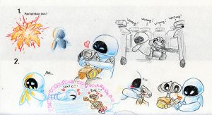 Wall-e Eve by Mickeymonster