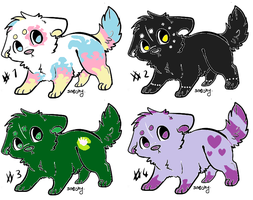 Adoptables Puppies by Shadowwolf66667