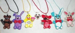 Five Nights At Freddys Necklaces by TashaAkaTachi