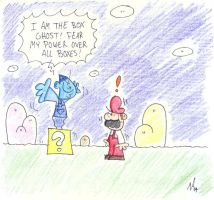 Mario Meets The Box Ghost by Nario