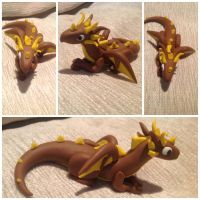 Brown and yellow dragon by InferiorSculptor