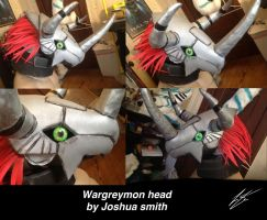 Wargreymon head by joshsmithstudio